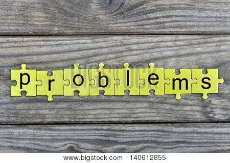 Puzzle pieces with word Problems