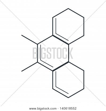 flat design molecule representation icon vector illustration