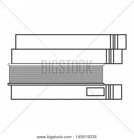 flat design book stack icon vector illustration