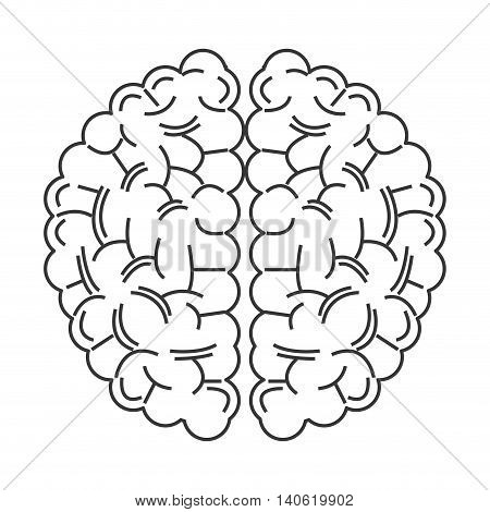 flat design human brain icon vector illustration