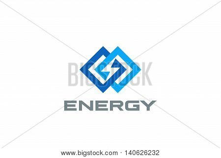 Flash Logo infinity design vector. Infinite Energy Power icon