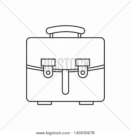 Diplomat bag icon in outline style isolated on white background. Briefcase symbol