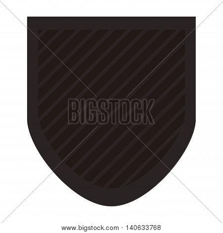 flat design shield emblem icon vector illustration