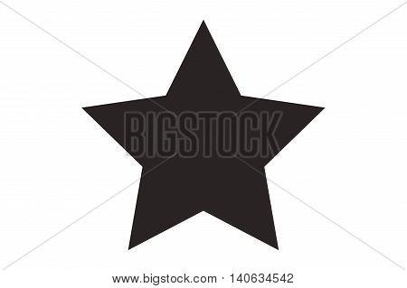 flat design simple star icon vector illustration