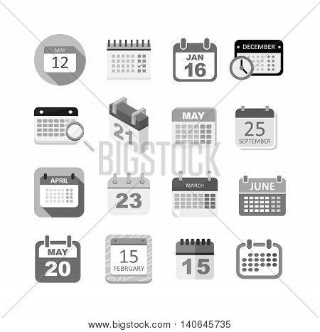 Calendar icon vector isolated, calendar icon graphic reminder element message symbol. Calendar icon message template shape office calendar icon appointment. Binder schedule calendar icon.