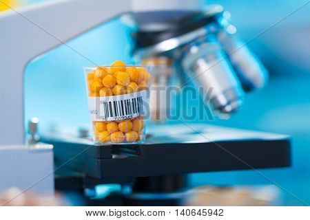 Research GM in microbiological laboratory