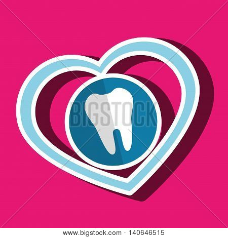 symbol medicine odontology graphic vector illustration eps 10