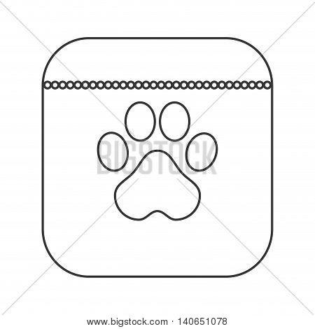 flat design dog food icon vector illustration