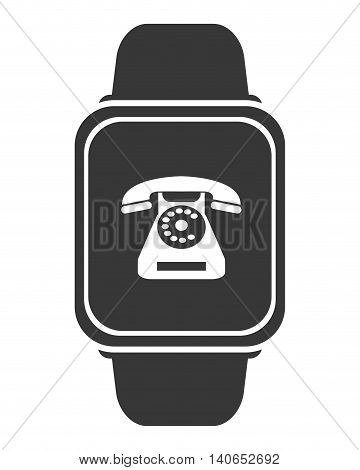 flat design smart watch icon vector illustration