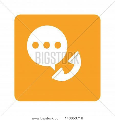flat design on-going call icon vector illustration