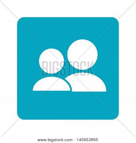 flat design user pictogram icon vector illustration