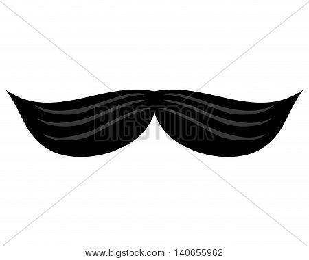 flat design single retro mustache icon vector illustration