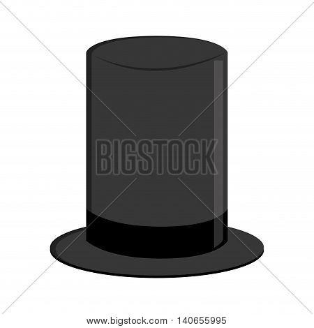 flat design retro hat icon vector illustration