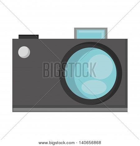 flat design analog photographic camera icon vector illustration