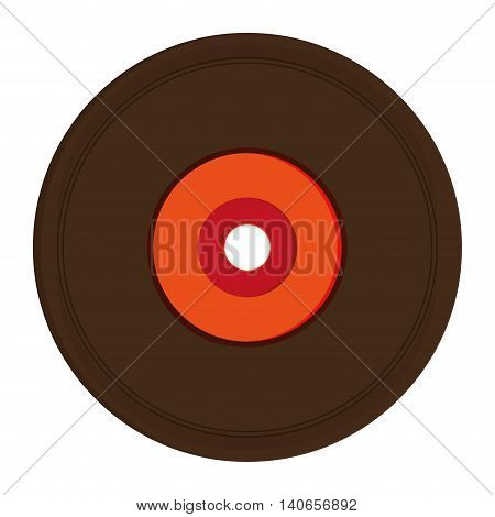 flat design vinyl record icon vector illustration