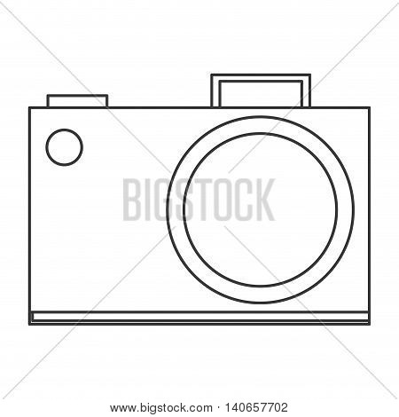 flat design analog photographic camera icon vector illustration