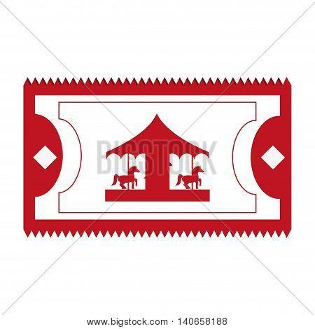 flat design amusement park ticket icon vector illustration