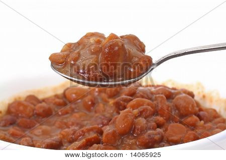 Spoonful Of Pinto Beans