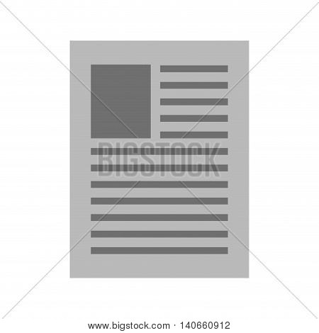 flat design simple document icon vector illustration