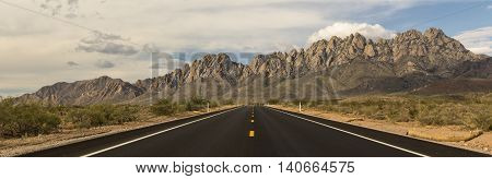 Road to the Organ Mountains - Desert Peaks National Monument, east of Las Cruces, New Mexico.