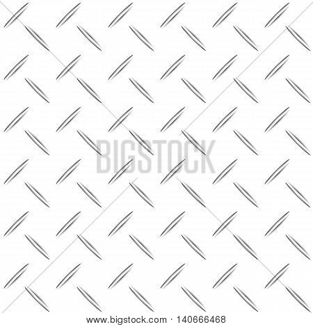 Metal list with rhombus shapes background stock vector
