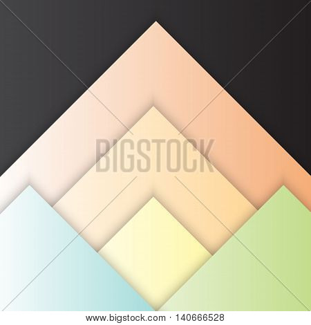 Triangle material design with shadow stock vector