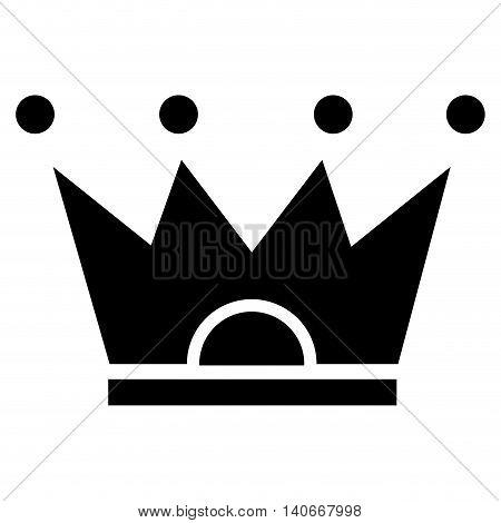 flat design crown pictogram icon vector illustration