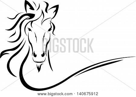 beauty horse head tattoo for you design