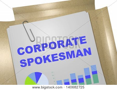 Corporate Spokesman Concept