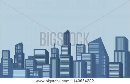 Silhouette of scenery building collection stock vector