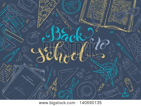 Vector Back To School Template.