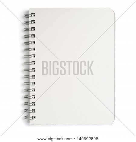 Notepad on white background isolated, close-up .