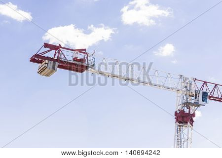Meriton Crane Fixed Under Blue Sky With White Clouds