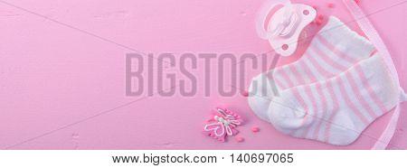 Baby Shower Social Media Web Banner