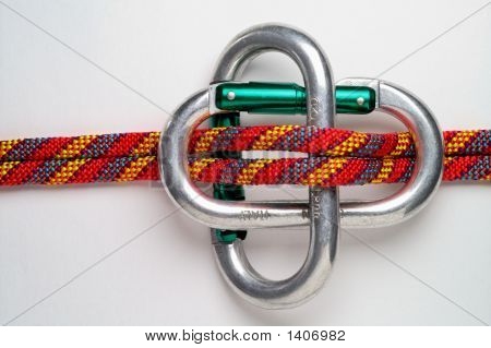 Mountaineering: Carabiner Brake  For  Double Rope Rappel