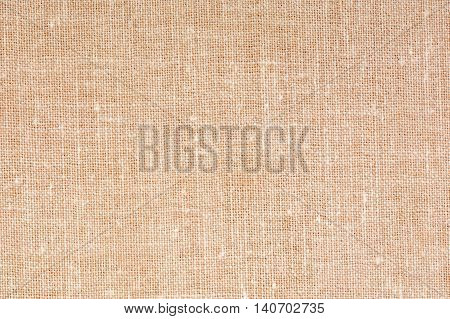 Decorative canvas fabric texture background, close up