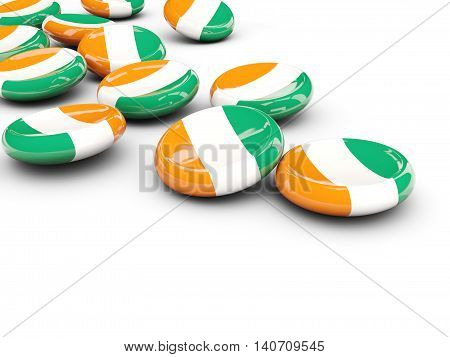 Flag Of Cote D Ivoire, Round Buttons