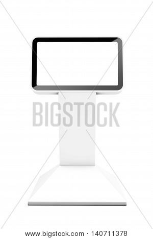 Information LCD Display Stand on a white background. 3d Rendering