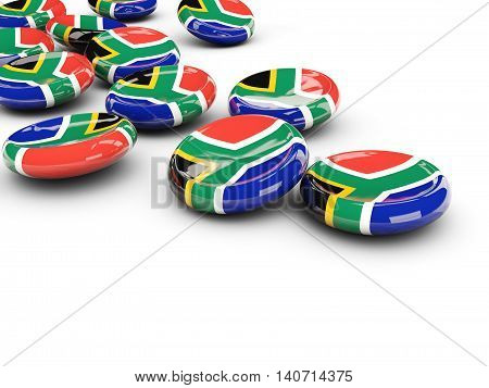 Flag Of South Africa, Round Buttons