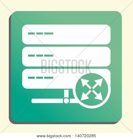 Server Arrows Diagonal Icon In Vector Format. Premium Quality Server Arrows Diagonal Symbol. Web Gra