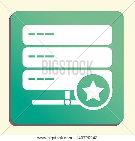 Server Star Icon In Vector Format. Premium Quality Server Star Symbol. Web Graphic Server Star Sign