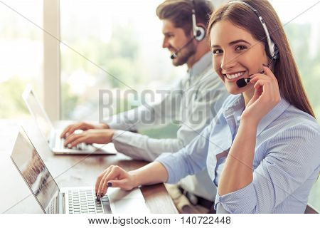Beautiful Business Couple Working