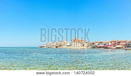 The coast and the promontory of Small Croatian Town Umag