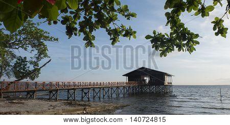 Seafood Restaurant Wooden House at Kg.Nagalang, Labuan Malaysia.