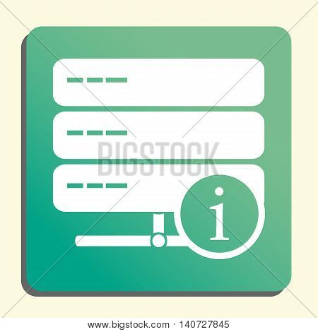 Server Info Icon In Vector Format. Premium Quality Server Info Symbol. Web Graphic Server Info Sign