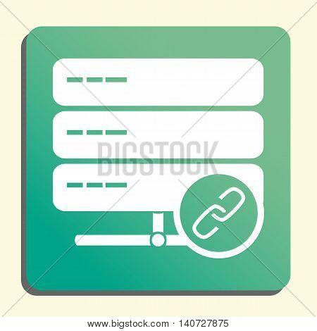 Server Link Icon In Vector Format. Premium Quality Server Link Symbol. Web Graphic Server Link Sign