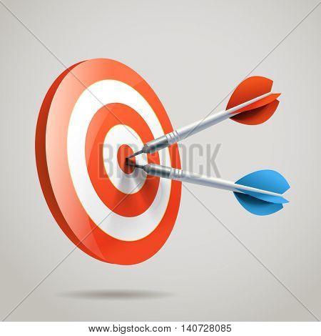 Darts. vector illustration