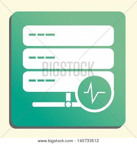 Server Pulse Icon In Vector Format. Premium Quality Server Pulse Symbol. Web Graphic Server Pulse Si