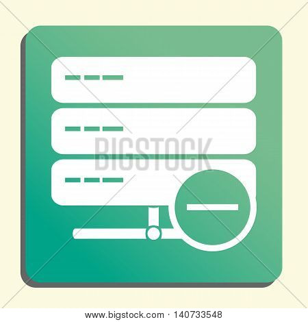 Server Remove Icon In Vector Format. Premium Quality Server Remove Symbol. Web Graphic Server Remove
