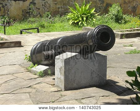 An old cannon at Fort Jesus in Mombasa,Kenya.